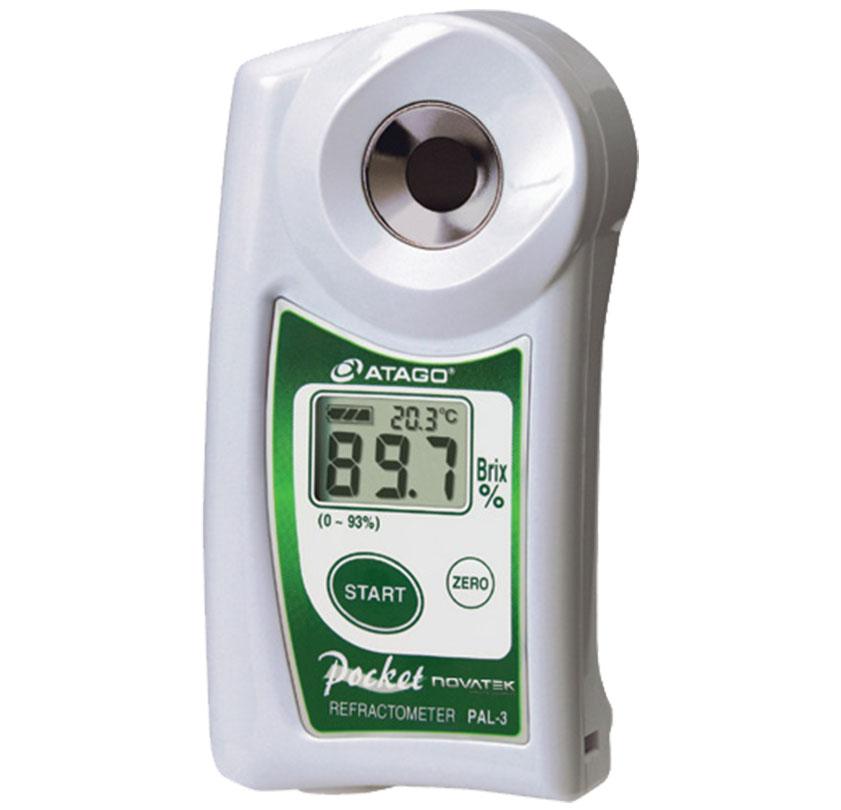 0 93 brix dijital el tipi refraktometre atago pal3