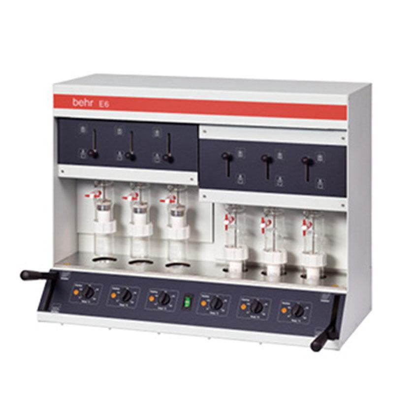 6 numuneli randall metot yağ – solvent ekstraksiyon cihazi behr labor technik e6