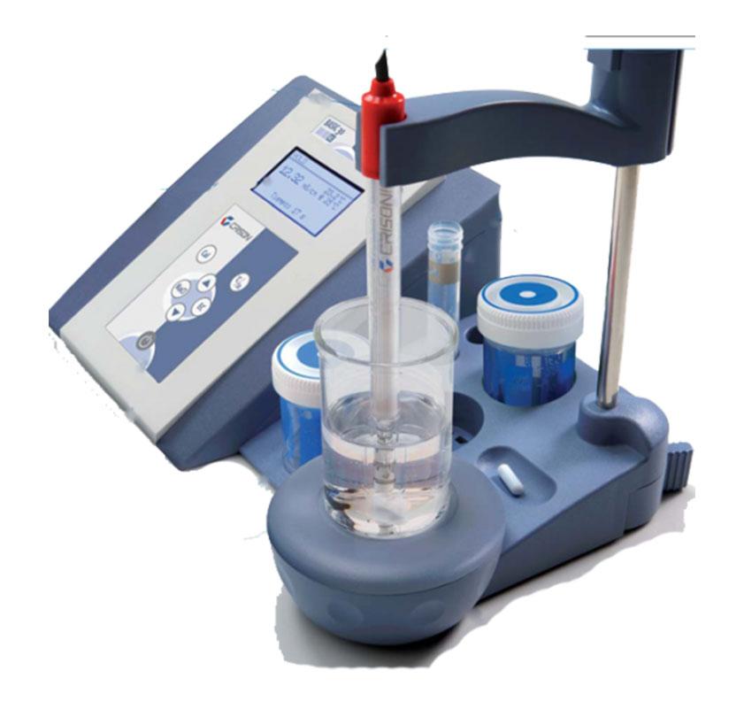 masa tipi iletkenlik olcer crison instruments basic 30 model