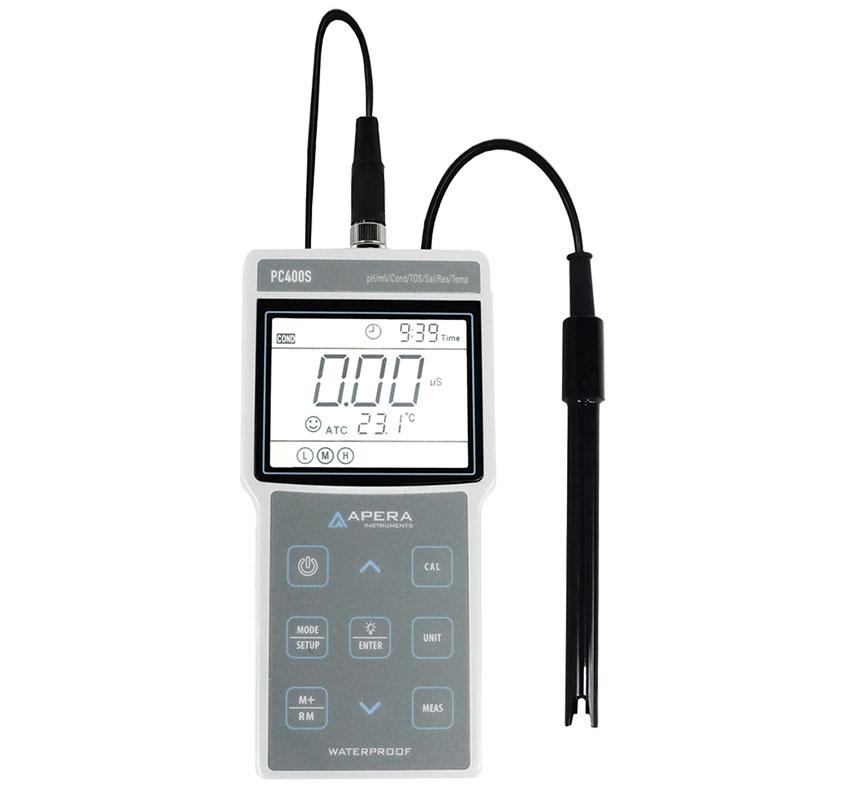 portatif ph iletkenlik olcum cihazi glp standartlarinda apera pc400s